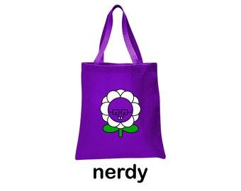 nerdy flower tote