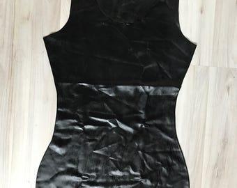 Latex Mini Dress Sexually Beautifully Black