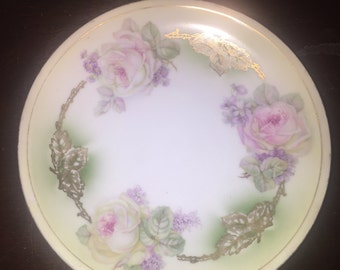 Stunning vintage Three Crown China Germany plate