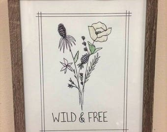 Wild and Free Wildflower Painting