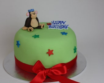 Monkey Jungle Animal Cake Topper