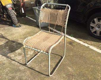 Vintage Woven Seat & Back School Chairs