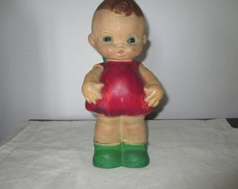 Old Kewpie Doll Chalkware Bank from Early 1900s