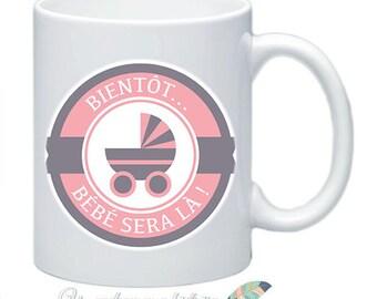Baby daddy #6 customizable MOM pregnancy announcement mug
