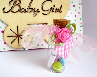 Vial Message in the bottle - will you be my godmother? -text customizable + shipped with gift bag
