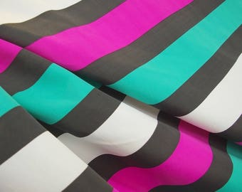 Turquoise And Pink Stripped Fabric