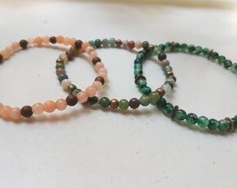 Set bracelets - gemstone