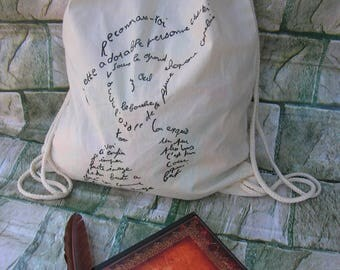 cotton backpack poetry