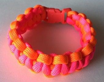 Pink & Orange Rope Bracelet