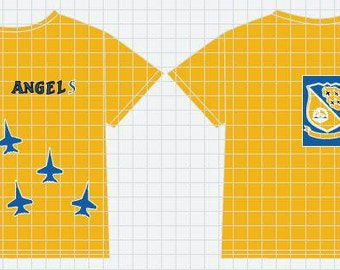 Personalized Blue Angels shirt
