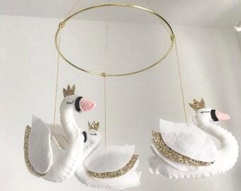 Heirloom swan mobile