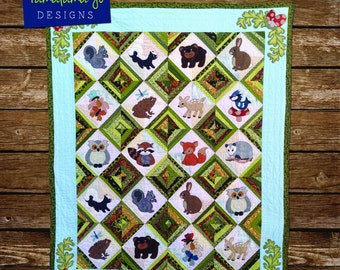 Forest Friends: Hide & Seek Applique Quilt Pattern