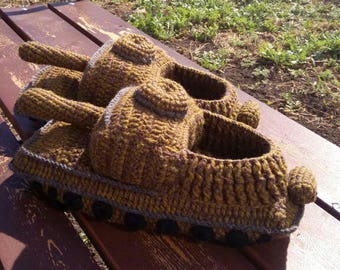 Mens knit slippers   Etsy