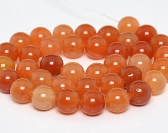 "10MM Orange Aventurine Natural Gemstone Half Strand Round Loose Beads 7.5"" (101189h-346)"