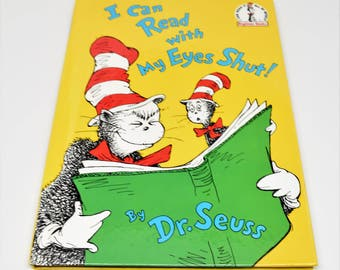 DR. SEUSS I Can Read with My Eyes Shut! Book ~ Dr. Seuss Books ~ Dr. Seuss ~ Dr. Seuss Children's Books ~ Children's Books ~ Vintage Books