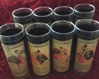 Bullfight Poster Drinking Glasses