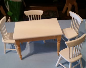 1:12 miniature dining room furniture