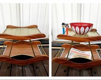 Vintage Scandinavian Mid Century Coffee Table Sofa Side Table