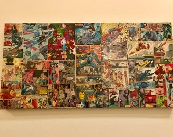 Comic Book Collage Large Wall Art