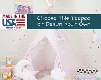 Pink Stars Teepee, pink teepee, pink teepee tent, kids pink teepee, children pink teepee, pink tent, pink teepee for kids, pink tipi