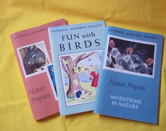 National Audubon Society, Nature Program Booklets - 3 in all