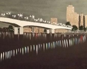City Life Acrylic Painting