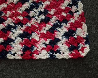 Nautical Crocheted Lap Throw