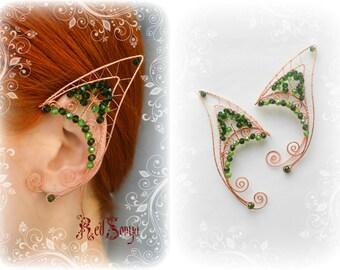 Enchanted Forest Wire Fairy Elf ear cuffs