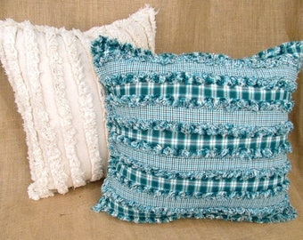 Chenille Ragged Pillow Pattern - DIGITAL DOWNLOAD - from Jubilee Fabric