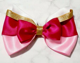 Handmade Sleeping Beauty Princess Aurora Hair Bow