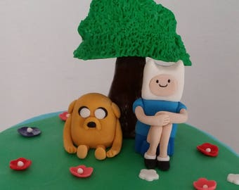 Adventure Time Jake and Fin Cake topper
