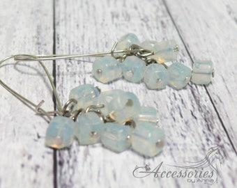 Wedding earrings chandelier Dangle earrings Long Earrings white Crystal Earrings Dangle Earrings Bridal Earrings Moonstone Amulet Talisman