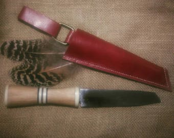 Handmade Seax Knife Utility Re-purposed Up-cycled (25% Discount - Handle Void)