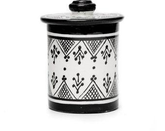 Henna Storage Pot, Black