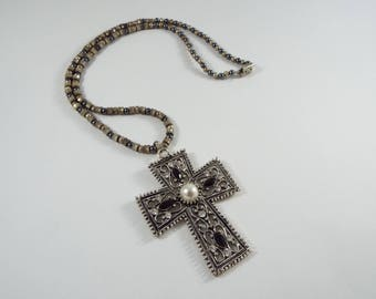Metal Medieval Cross Necklace
