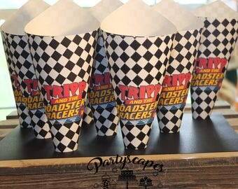 Mickey and the Roadster Racers Birthday Popcorn Cones - Set of 10 - Personalized