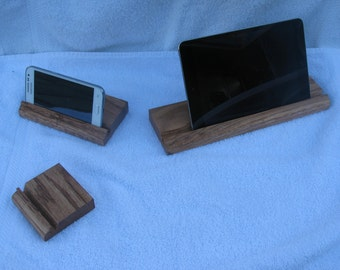 Solid Oak Device Stand