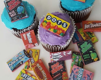 12 Assorted Candy Box Toppers