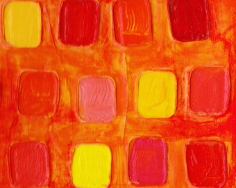 Fine Art Abstract Print 'Oranges and Sunshine'