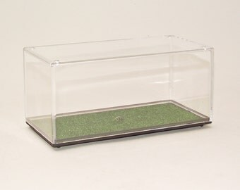 Display Case Diorama for 1:43 Model Cars Grass Finish