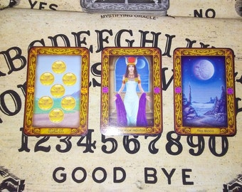 3 Card Spread Past, Present, and Future Reading.