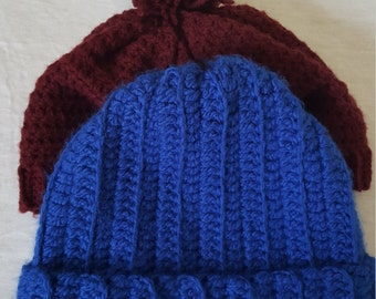 Crochet Warm and Cozy wool hats