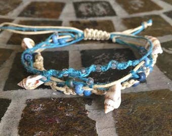 Women's Hemp Bracelet - She Sells Sea Shells -