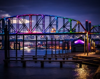 Rainbow Lights on Big Four Bridge