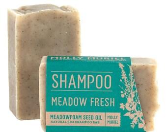 Meadow Fresh (Meadowfoam Seed Oil) Shampoo Bar - Handmade All-Natural Shampoo Bar, Palm-Oil Free by Molly Muriel Apothecary