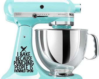 kitchenaid mixer decal-vinyl decal