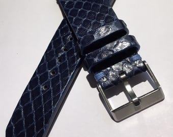 I sell Handmade genuine leather strap Python Strap 22 mm