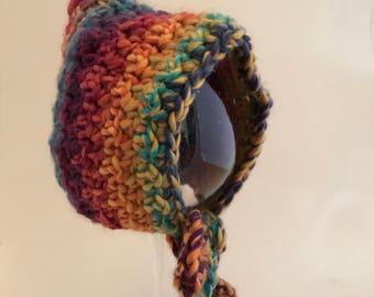 newborn rainbow pixie hat bonnet