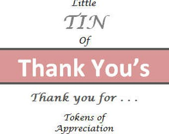 Thank You Cards, Simple Thank You Gift, Thank You Gift for Him, For Her, For Daughter, For Son, for Dad, For Mom, Thank You gifts, 6B