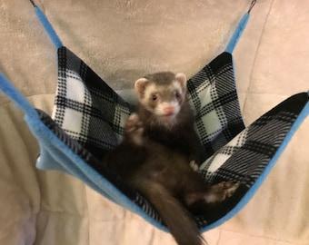 Plaid Ferret Hammock / Rat Hammock
